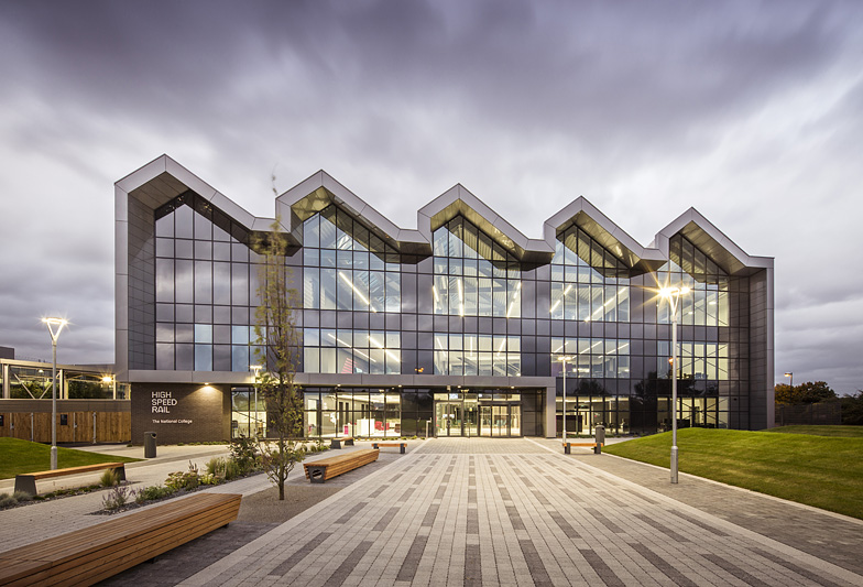 Architecture-NCHSR Doncaster-high-speed-rail-front